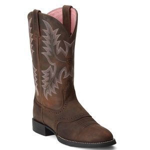 Ariat Heritage Stockman Saddle Vamp Cowgirl Boots